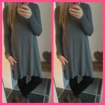 sweater jurk trui tuniek grijs