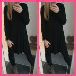 sweater trui jurk zwart