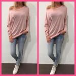 oversized top tuniek jurk licht roze