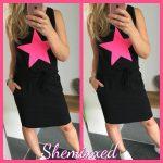 ster jurk jurkje zomer zwart