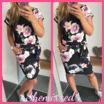bloem print zomer jurk korte mouw print